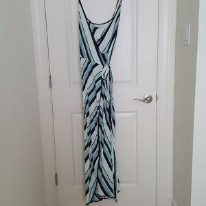 loft slimming long wrap dress 4,NWT